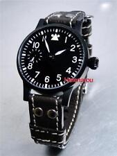 HR 43mm LACO PVD Luftwaffe Fliegeruhr Pilot Watch with ST36 6497 movement
