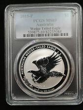 2015 1oz .999 Fine Silver Australian Wedge Tailed Eagle Coin PCGS MS69