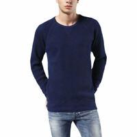 DIESEL S GARY 0AAMG Mens Textured Sweatshirt Crew Neck Pullover Long Sleeve Top