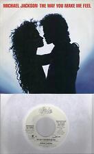 MICHAEL JACKSON  The Way You Make Me Feel  rare promo 45 with PicSleeve