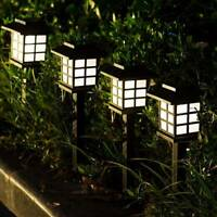 4 Pack Outdoor Garden Solar Power Pathway Lights Landscape Lawn Patio Yard Lamp