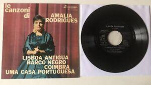 """FADO EP 7"""" COLUMBIA ITALY 1962LE CANZONI DI AMALIA RODRIGUES LISBOA ANTIGUA BARC"""