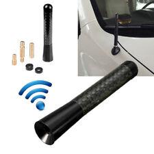"""3"""" Universal Car Carbon Fiber Black Aluminum Screw Radio Short Antenna Aerial"""