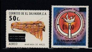 EL SALVADOR Marimba de Arco & Pan American Games Surcharges MNH set