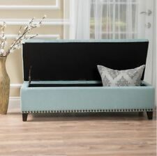 Bed Bench End Storage Cushion Foot King Upholstered Bedroom Hallway Foyer Settee