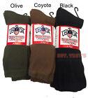 USOA Military Boot Socks Mens Calf Length Anti-Microbial 3 pair USA Made New