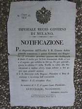 S222-LOMB.VENETO-SETA DAZIO PER L'ESPORTAZIONE 1822