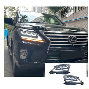 For Lexus LX570 2007-2015 LED Headlights LED DRL Replace OEM Halogen Sequential