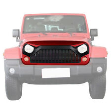 Front Angry Bird Firecracker Red Black Grille Hood For Jeep Wrangler JK 14-17