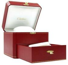 Cartier Box Red Watch & Jewelry Storage with Drawer Compartments