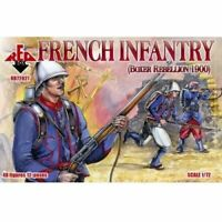 French Infantry Boxer Rebellion 1900 Red Box Figures (48) 1/72 Scale #72027
