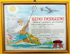 Vintage Qantas Airways Original Equator Crossing Certificate 1965