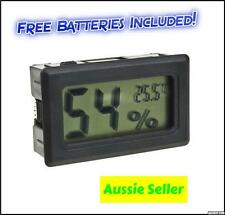 WIRELESS LCD DIGITAL HYGROMETER THERMOMETER GAUGE humidity temperature reptile