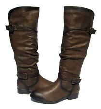 New Women's Ridding Boots Pita Brown Shoes Winter Snow Fur Lined Ladies size 10