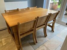 Solid English Oak Dining Table and 6 Chairs