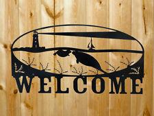 "Metal Steel Manatee Welcome Sign 15"" x 24"""
