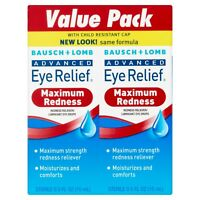 Bausch & Lomb Advanced Eye Relief Redness Maximum Relief Drops - 2 pk