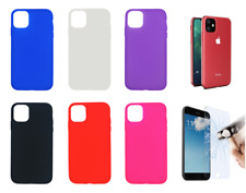 "Case Cover Gel TPU Silicone For iPhone 11 / XI - 6.1"" + Optional Protector"