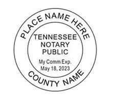 Notary Tennessee Custom Round Self Inking Notary Seal Rubber Stamp