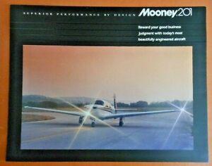 '83 Factory Brochure Mooney 20 Specs Performance Comparison Beech, Cessna, Piper