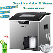 Anbull Ice Maker Machine Ice Shaver Machine Self-Clean Portable 2-in-1 Portable
