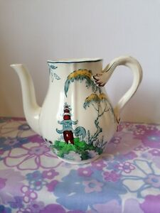 Copeland Spode Berkeley Teapot with no lid could be used as a jug vintage
