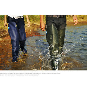 Thicken Waist Wading Overalls Waders Boots Waterproof Fishing Hunting Catch Fish