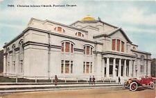PORTLAND OREGON CHRISTIAN SCIENCE CHURCH POSTCARD 1912 PSTMK CAN PAC EXPOSITION