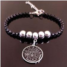 Pulsera de cadena de acero inoxidable pentagrama brazalete Tetragrámaton amuleto