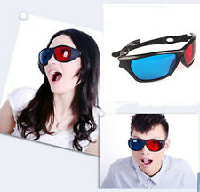 New Red Blue 3D Vision Glasses for Game TV Movie Dimensional Anaglyph Plastic