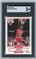 1990 Fleer Basketball Michael Jordan #26 SGC 5 EX Graded Basketball Card