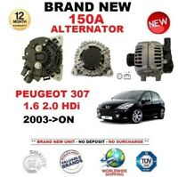 FOR PEUGEOT 307 1.6 2.0 HDi 2003-ON NEW 150A ALTERNATOR with CLUTCH PULLEY