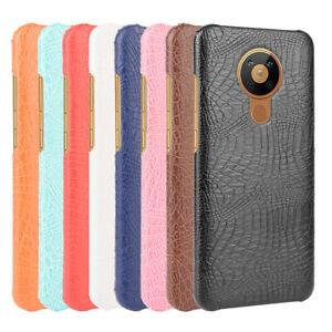 For Nokia 5.4 5.3 2.3 2.2 4.2 3.2 7.2 3.1 5.1 7.1 Crocodile Leather PC Hard Case