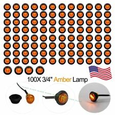 "100 3/4"" Amber 12V LED Clearance Marker Bullet Truck Trailer Light Lamp US Stock"