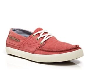 $75 NEW MENS TRETORN OTTO RED CHAMBRAY CANVAS SLIP ON LOAFER SIZE 8.5