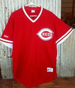 Vintage 1980s 1990s Rawlings 48 XL Cincinnati Reds Jersey #44 Eric Davis
