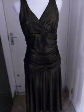 JULIEN MCDONALD STAR PARTY DRESS BLACK GOLD  SIZE 14