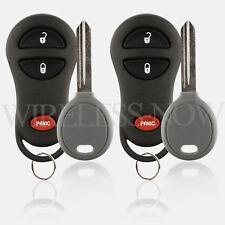 2 Car Fob Keyless Entry For 1999 2000 2001 2002 2003 Dodge Grand Caravan + Key