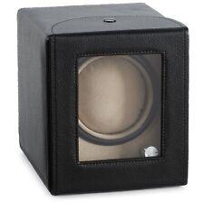 Diplomat Single Watch Winder w/ Smart Program - Black Leather