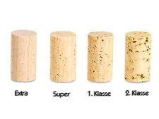 100 Stück Naturkorken 38 x 23 mm 1.Klasse - Weinkorken Flaschen - Hobbywinzer