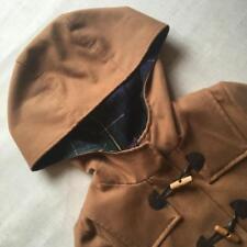 Zara TRF Tan Brown Caramel Duffle Tartan Lining w/ Pockets Spring Coat Jacket M