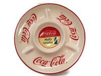 Coca-Cola Ceramic Chip and Dip Veggie Plate Platter Serving Piece