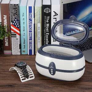 600ml Professional Ultrasonic Cleaner Jewellery Coins Cleaning Machine Basket UK