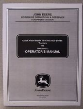 JOHN DEERE OPERATOR'S MANUAL QUICK HITCH BROOM FOR X400/X500 SERIES TRACTORS 60