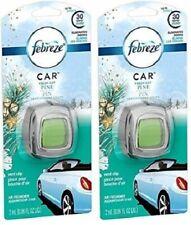 (2) New Febreze Car Vent Clip Air Freshener FRESH CUT PINE