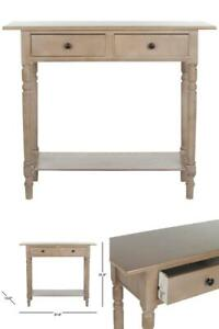 Rosemary 38 in. Vintage Gray Standard Rectangle Wood Console Table with Drawers