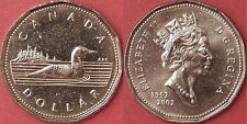 Brilliant Uncirculated 2002 Canada Golden Jubilee 1 Dollar From Mint's Roll