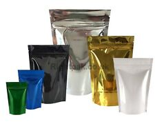 SHINY HEAT SEAL STAND UP POUCHES FOIL SEALABLE COFFEE BAGS WITH ZIP LOCK BAG