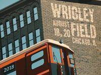 Pearl Jam poster Wrigley Field Chicago Steve Thomas Train 2018 tour