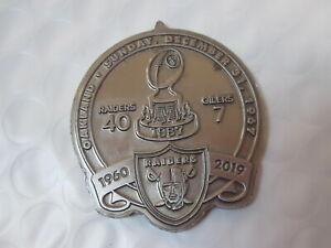 Oakland Raiders 2019 Commemorative Coin 60th Season Raiders Oilers 1967